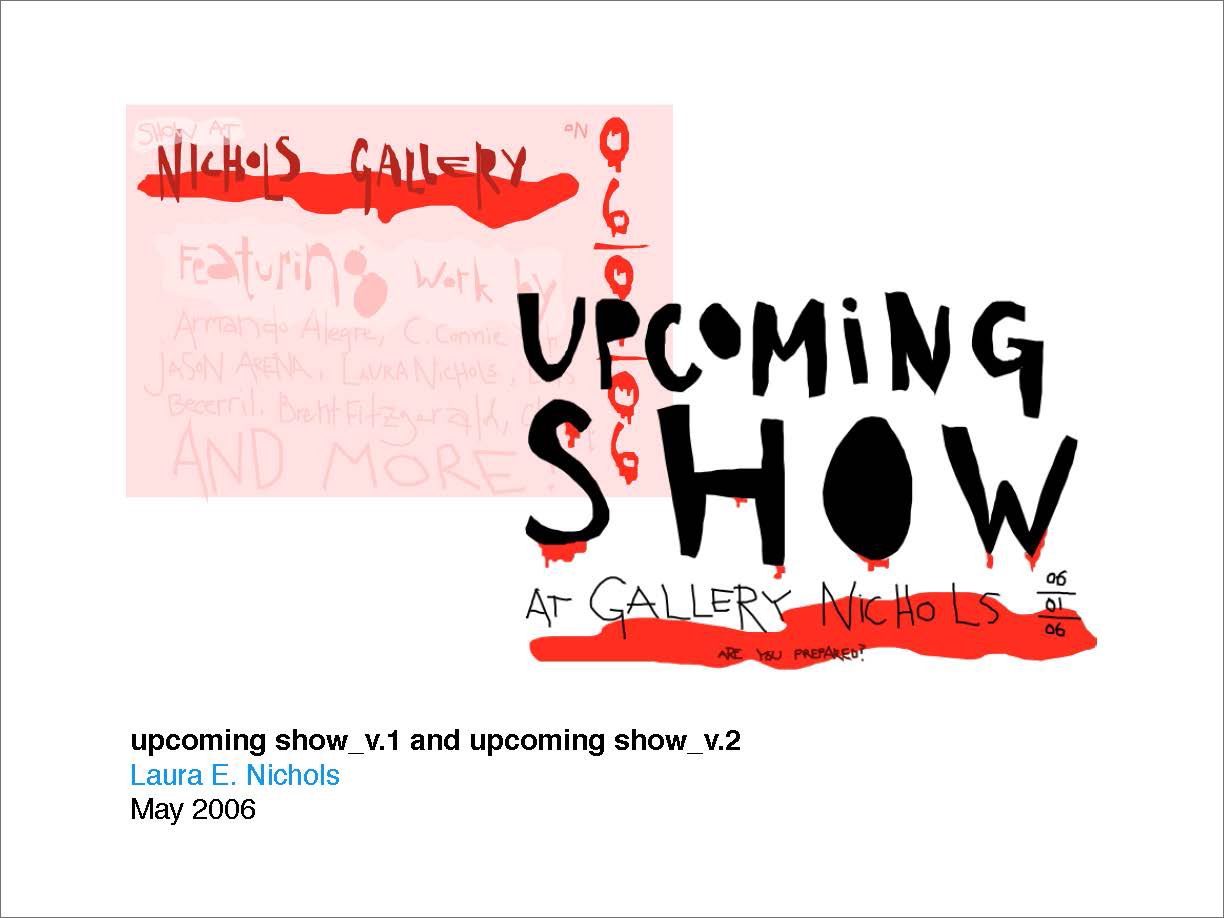 User drawing that advertises an upcoming show
